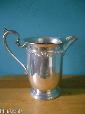Antique Fancy Sheridan Silver Co. Hallmarked Silver on Copper Water Ice Pitcher
