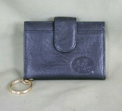 Woman's Buxton Wallet Black picture album inside pocket back and front keychain