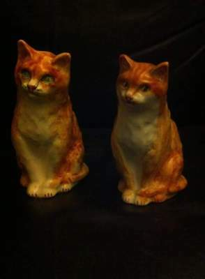 One Pair Of Ginger Cat Ornaments