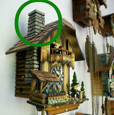 Cuckoo Clock Parts, Chimney, Accessories, Carving, Wood, Fix or Repair