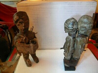Antique African Witch Doctor Tribal Fifures - Occult Usage - Seperation & Death