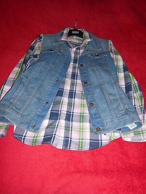Quality Nwot Boys Kids M&S Indigo Collecton Shirt&Denim Jillet 2 Part Set 13 Y.o