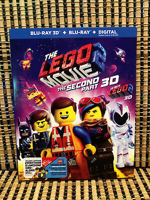 The Lego Movie 2: The Second Part 3D (2-Disc Blu-ray,2019)+Slipcover.Chris Pratt