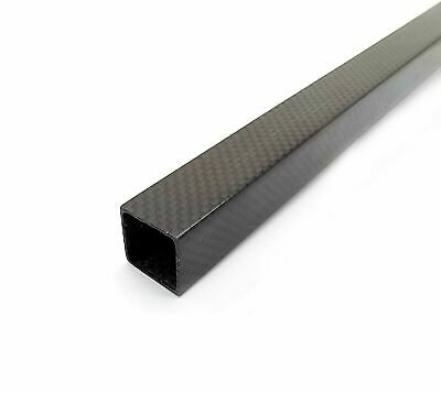 20x20x800mm 3K Carbon Fiber Square Tube Plain Weave Matte Finish