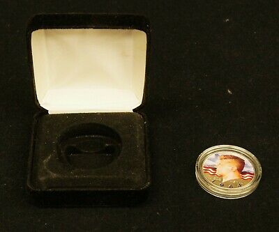 US Kennedy Half Dollar .900 Fine Silver 1964 Enameled Color Painted A8487