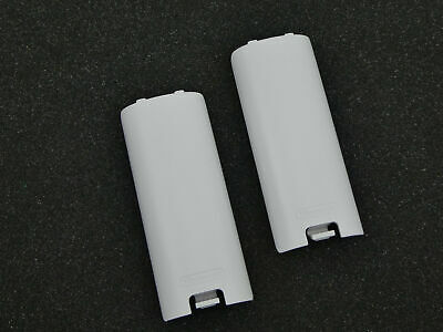 2 Genuine Nintendo Wii White Battery Covers for a Wii Motion Controller Remote