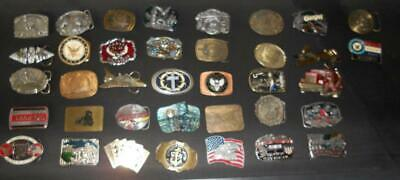 Vintage Belt Buckle Collection. LOT of 37. All 1970s and 1980s 1-1990 1-1991