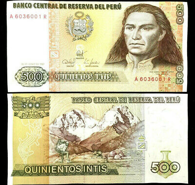PERU 50 Intis Banknote World Money Currency p131b Bill South America Note 1987