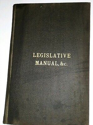 Antique 1894 State of Georgia Legislative Manual, &c. Senate House Hard Cover
