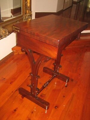 Rare Exquisite Antique Folding Card Table (Lovely Piece Of Furniture)