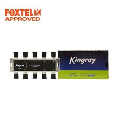 TV Antenna Splitter 8-Way F-Type Aerial 5-2400MHz Power Pass Foxtel Approved