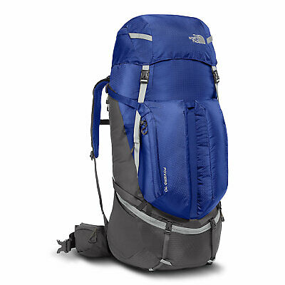 L/XL The North Face TNF Fovero 85 Climbing Travel Backpacking 85L Backpack Blue