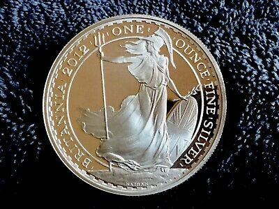 BU 2012 Great Britain Britannia £2 Two Pound Silver Proof 1oz Coin