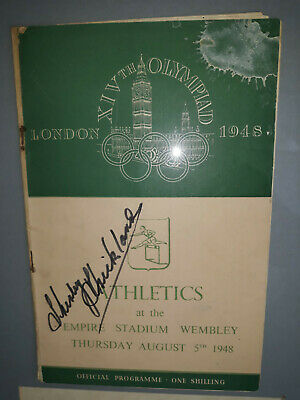 Olympic Memorabilia - Shirley Strickland signed programme/ London Olympics 1948