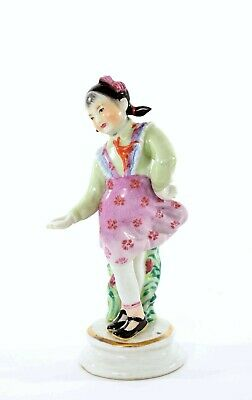 Chinese Culture Revolution Famille Rose Porcelain Dancing Girl Figurine  Mk