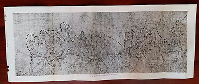 Early 1900's Glossy Sketch Map Showing Palmyra and Clyde Quadrangles NY