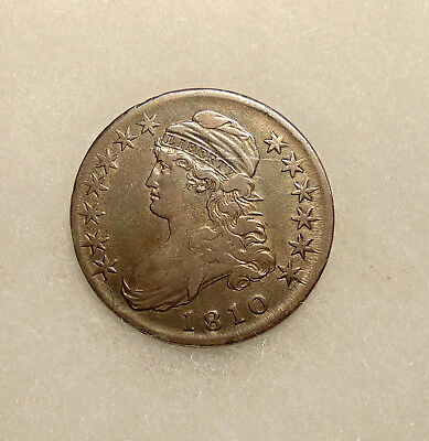 1810 Capped Bust Half - Scarce O.109a R.4 - Very Nice Looking Coin