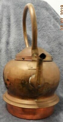 ANTIQUE COLLECTIBLE. Large copper/brass, kettle