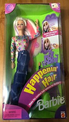 Vintage Mattel 1998 Happenin' Hair Barbie Doll MIB #22882