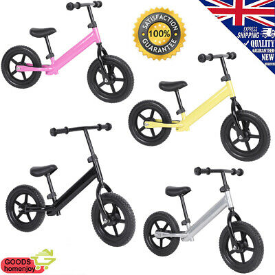 """12"""" Kids Balance Bike Gift for 1.5 to 6 Year Girls Boys Scooter Training Bicycle"""