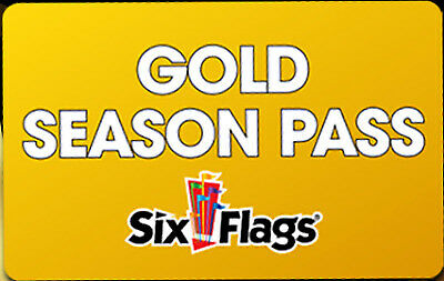 (1) One 2019 Gold Season Pass Good At Any Six Flags Park + Free Parking