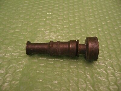 "Vintage Brass Water Hose Spigot - Made In ""Italy"" - 3.5"" Long - Works - Vg Cond."