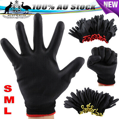 Pro 48× Antistatic Nylon Gloves Safety Work Mechanic Workers Garden Builder Tool