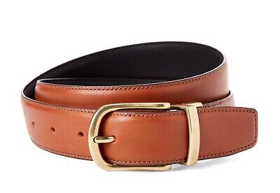 Cole Haan Men's Belt Reversible Feather Edge Leather From Tan To Black New W/Tag