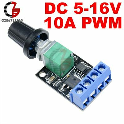 5V 12V 10A PWM DC Motor Speed Controller Governor Stepless Speed Regulator LED