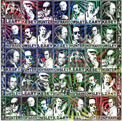 Psychedelic Pioneers BLOTTER ART perforated sheet paper psychedelic art