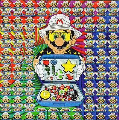 MARIO & his Bag of TRIPS BLOTTER ART perforated sheet paper psychedelic art