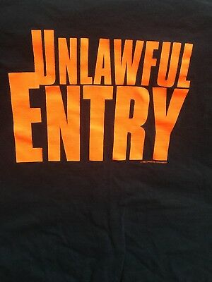 Unlawful Entry movie promotional shirt X-Large Kurt Russell Ray Liotta