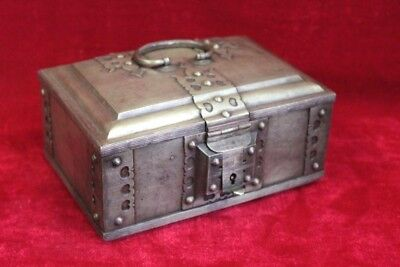 Brass Case Box Old Vintage Antique Decorative Collectible PP-29