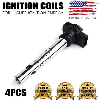 NEW IGNITON COIL SET OF 4 FOR 05-12 audi A4 /& Others C1627 UF575 06F905115