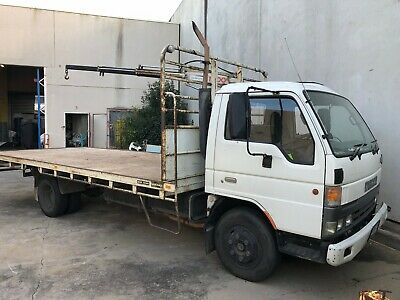 1997 Mazda T4600 Tray Truck With Crane No Reserve Includes GST, Not Isuzu Fuso
