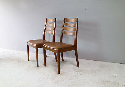 Set of 6 mid century 1970's dining chairs by Nathan