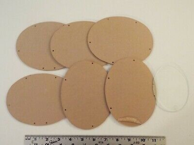 "Lot Of 6 Acrylic Ovals For Wooden See-Thru Piggy Banks-Plexiglass? 4.5X6"" Crafts"