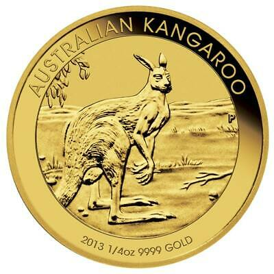 2013 Australian Kangaroo 1/4oz .9999 Gold Bullion Coin - The Perth Mint