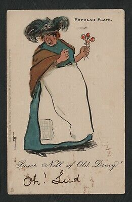 "s545)     TUCK POPULAR PLAYS POSTCARD FROM 1902   ""SWEET NELL of DRURY"""
