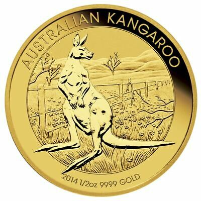 2014 Australian Kangaroo 1/2oz .9999 Gold Bullion Coin - The Perth Mint