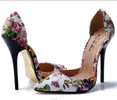 Womens Pointed Toe Patent Leather Stilettos 14CM High Heel Shoes Nightclub Sexy