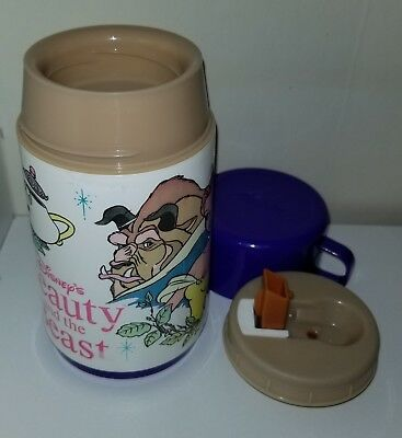 Vintage Beauty and the Beast Purple Aladdin Thermos 1992 8 oz Cup # 112
