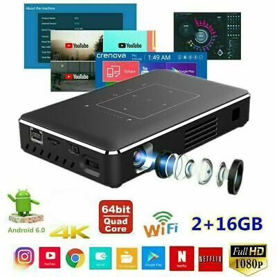 Mini HD 5500 Lumens DLP Android Wifi Home Theater Projector HDMI 1080p Cinema AU
