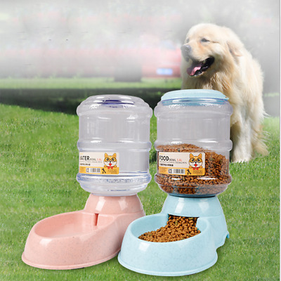 New 3.8L Large Automatic Pet Food Drink Dispenser Dog Cat Feeder Water Bowl
