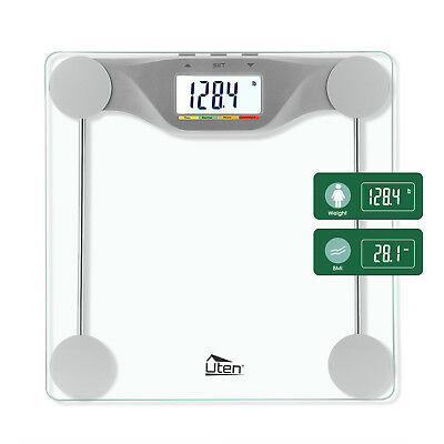 Digital Body BMI Scale Electronic LCD Fitness Weight 400LB Bathroom Glass Scale