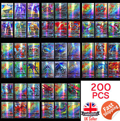 200Pcs 195GX+5MEGA  Pokemon Cards English Edition Break Point UK Kids Gift YUT
