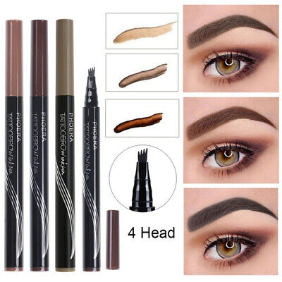 Microblading Tattoo Eyebrow Pen PHOERA®4 Fork tip Ink Pencil Hot UK