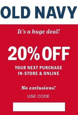 OLD NAVY 20% off coupon (or EXTRA 20% off - READ carefully!!!)