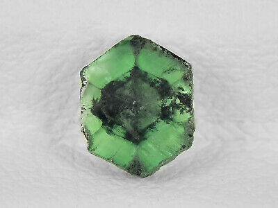 IGI Certified COLOMBIA Trapiche Emerald 0.56 Cts Natural Green Hexagonal Tablet