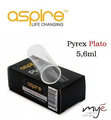 Vetro x Aspire PLATO 5,6ml Pyrex di Ricambio (Tube glass) blister ORIGINALE 1x